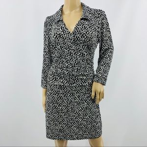 Laundry by Design Long Sleeve Faux Wrap Dress